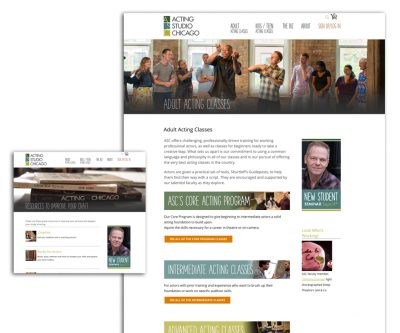 Web Design - Acting Studio Chicago - Unscribbled