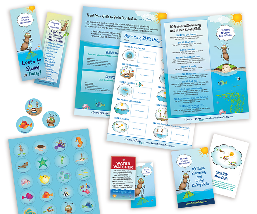 Print Design - Learn to Swim Today - Unscribbled: Web and Graphic Design