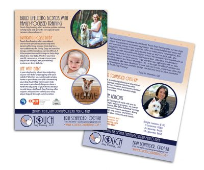 Flyer Graphic Design - Touch Dog Training - Unscribbled: Web and Graphic Design