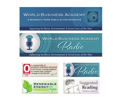 Enewsletter Header and Graphics - World Business Academy - Unscribbled: Web and Graphic Design
