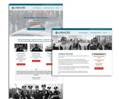Website Design - Larimore Associates Public Safety Software