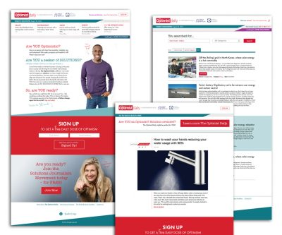 Website Design - Optimist Daily - Unscribbled: Web and Graphic Design