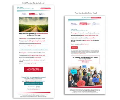 Daily E-Newsletters - Optimist Daily - Unscribbled: Web and Graphic Design