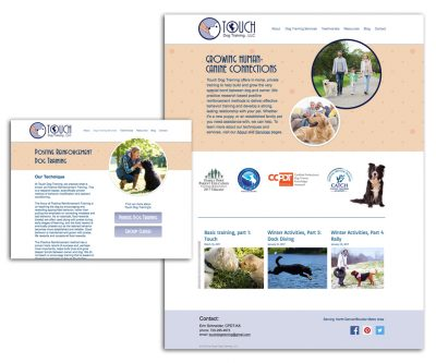 Website Design on Wix - Touch Dog Training