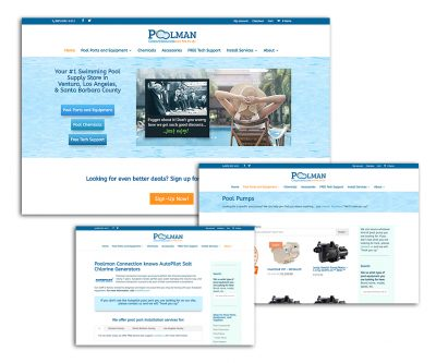 Website Design - Poolman Connection - Unscribbled: Web and Graphic Design