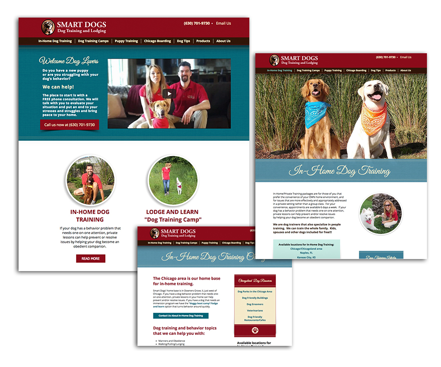 Website Design - Smart Dogs - Unscribbled: Web and Graphic Design