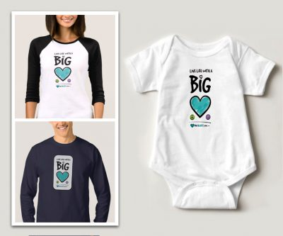 T-shirt design - Live Life with a Big Heart