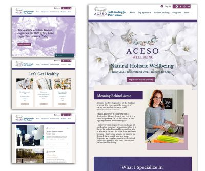Website Design on Wix - Aceso Wellbeing